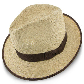 Twisted Runabout Panama Straw Fedora Hat by Stetson Hats
