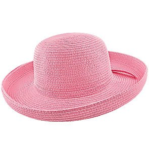 Woman in a wide brimmed floppy hat