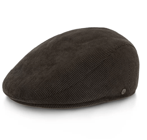 brown corduroy ascot hat