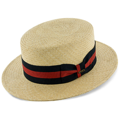 The navigator boater hat is a great choice for the Kentucky Derby.