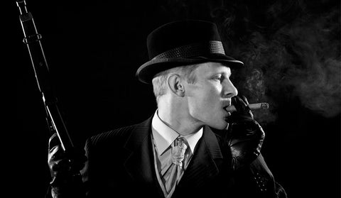 Smoking with a fedora