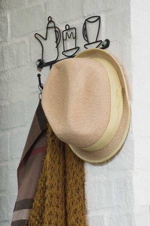 Hat against a wall