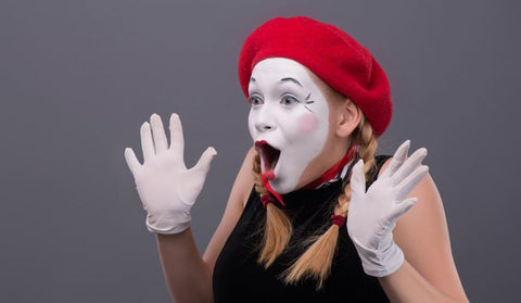 Mime in Red French Beret