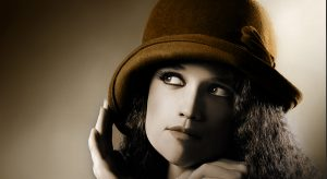 Woman in a Vintage Cloche Hat