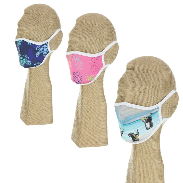Beach Bliss - Polyester Washable Face Mask