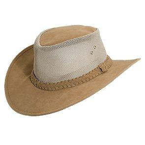 Norman - Scala 948OS Tan Mesh Sidewall Outback Soaker Golf Hat