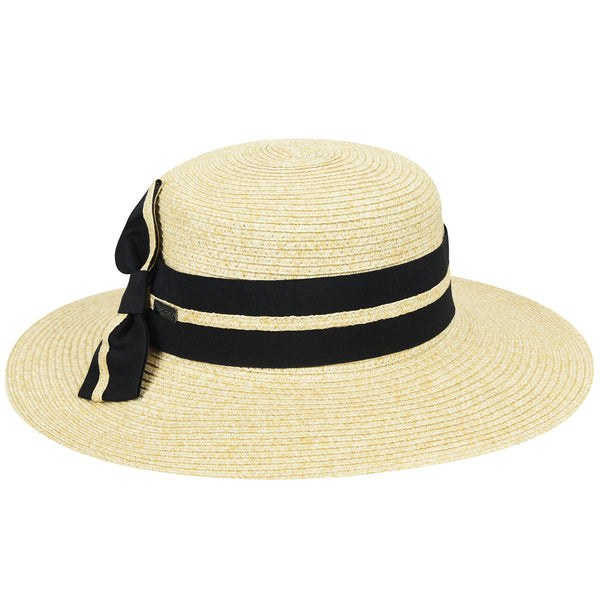 Claudia Side Bow - Betmar Straw Boater Hat