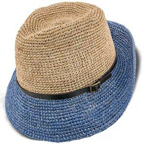 Manu - Scala LR687 Tea Crocheted Raffia Straw Fedora Hat