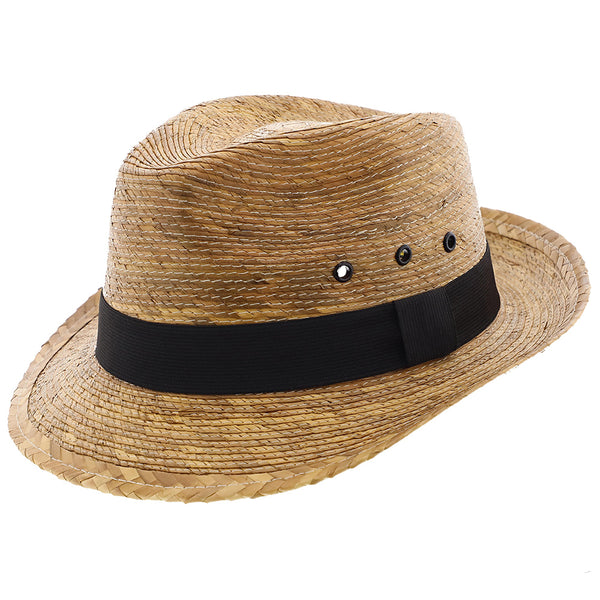 Skipper - Dorfman Pacific Braided Palm Fiber Fedora