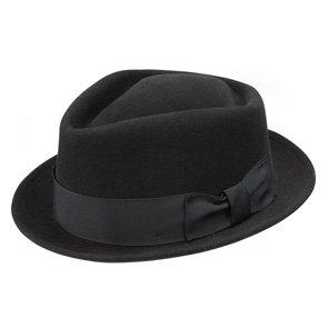 Honey Badger - Stetson Black Wool Felt Fedora Hat - TWHBDG