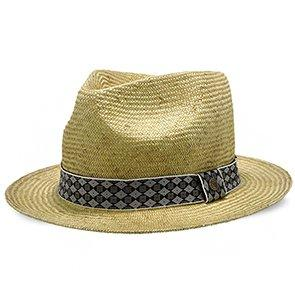 Walrus Hats Sisal Straw Fedora Hat w/ Band