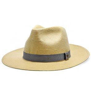 Walrus Hats Natural Paper Braid Straw Fedora Hat w/ Band