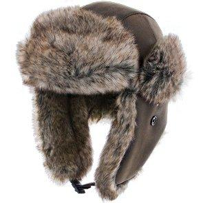 Walrus Hats Faux Fur Brown Trapper Hat