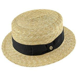 Voyage - Walrus Hats Natural Straw Boater Hat - H7006