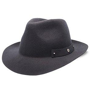 Journey - Walrus Hats Navy Wool Felt Fedora Crushable Hat - H7009