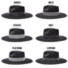 Walrus Hats Castle Black Fedora Hat w/ Festival Bands