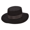 Brooklyn Bolero Garland - Brooklyn Black Wool Felt Hat