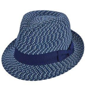 Brooklyn Trilby Bushwick - Brooklyn Navy Paper Braid Straw Fedora Hat - BKN1435