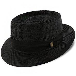 Dobbs Porkpie Bishop - Dobbs Straw Porkpie Hat - DSBISH