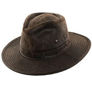 Dorfman Pacific Outback MC233 - DPC Weathered Cotton Outback Hat