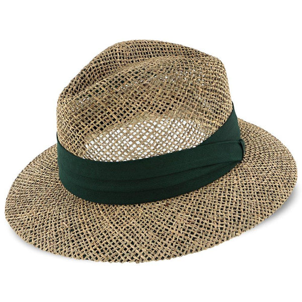 Dorfman Pacific Safari Portland - H-MS3 - Dorfman Pacific 100% Seagrass Straw Fedora Hat
