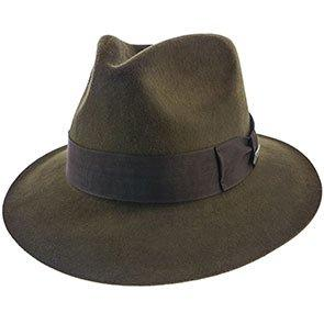 Indiana Jones Fedora Phantom - Authentic Brown Fur Felt Indiana Jones Fedora Hat - IJ554