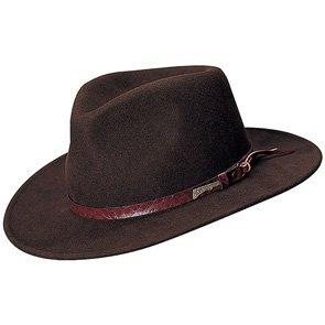 Indiana Jones Outback Authentic Brown Wool Felt Indiana Jones Crushable Outback Hat - 555
