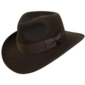 Indiana Jones Outback Cross country - Authentic Brown Wool Felt Crushable Indiana Jones Outback Hat - IJ557
