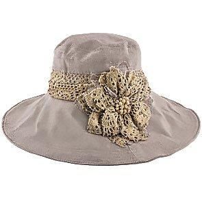 Jeanne Simmons Wide N' Soft - Jeanne Simmons Mocha Poly Wide Brim Hat - 4006