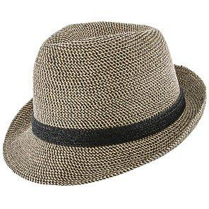 Jeanne Simmons Trilby Sunny - Jeanne Simmons Cotton Toyo Straw Trilby Fedora Hat - 8337
