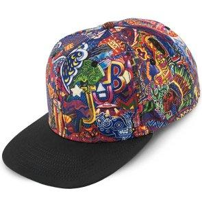 Santana Baseball Supernatural - Santana Multi-Colored Flat Bill Snap Back Baseball Cap