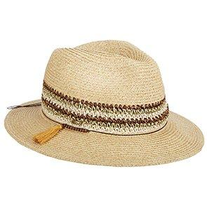 Scala Fedora Scala LP268 Natural/Multi Braid Safari Hat