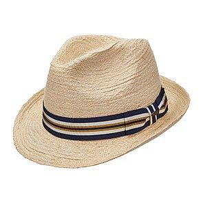 Scala Fedora Scala MR203OS Natural Braided Raffia Straw Fedora Hat