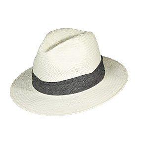 Scala Fedora Mombasa - Scala LT176 Natural Toyo Straw Fedora Hat w/ Tan 2-Pleat Cotton Band