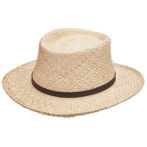 Scala Gambler Dumont - Scala MR201OS Natural Raffia Straw Gambler Hat