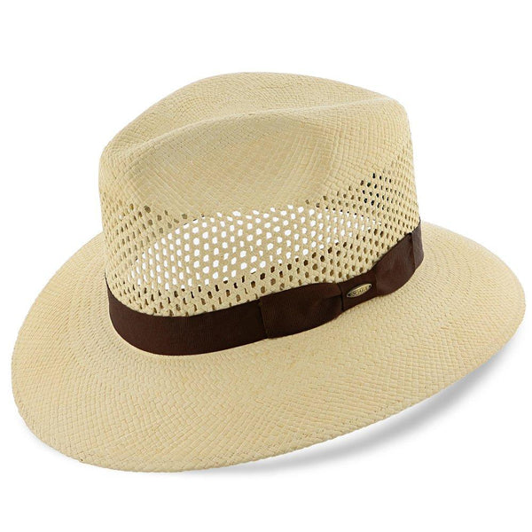 Scala Outback Tahoe - Scala Natural Grade 8 Panama Straw Outback Hat
