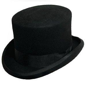 "Scala Top Twain - Scala WF569 Brown Wool Felt Top Hat - 5.5"" Tall"