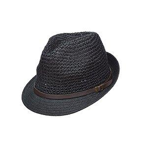 Scala Trilby Scala LT200 Natural Crocheted Toyo Straw Fedora Hat