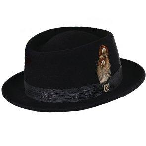 Stacy Adams Porkpie Stacy Adams SAW625 Chocolate Wool Felt Porkpie Hat