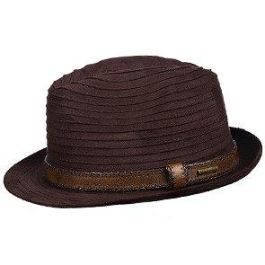 Stetson Fedora Easy-Going - Stetson STW192 Taupe Braid Faux Suede Fedora Hat