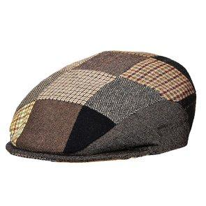 Stetson Ivy Fiddler - Stetson STW228 Brown Quilted Patches Wool Blend Ivy Cap Wool Blend - Made in Italy