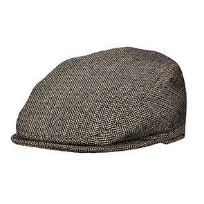 Stetson Ivy Pompeii - Stetson STW224 Brown Wool Blend Herringbone Ivy Cap - Made in Italy