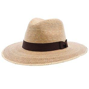 "Sunbody Fedora Explorer, 3 1/2"" Brim - Colored Natural Hand Woven Green Palm Hat"