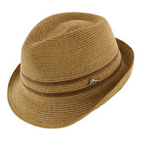 Tommy Bahama Fedora Katla - Tommy Bahama TBW223OS Tea Hemp Braid Straw Fedora Hat