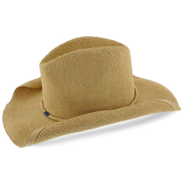 Tropical Trends Western Cocoa - Tropical Trends 100% Toyo Straw Western Hat
