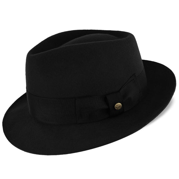Walrus Hats Fedora Compass - Walrus Hat Diamond Crown Wool Felt Fedora Hat