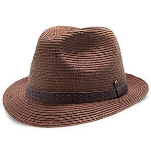 Walrus Hats Fedora Driftwood - Walrus Hats Brown Paper Braid Straw Fedora Hat