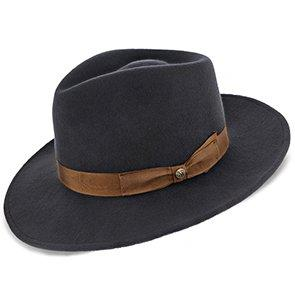 Walrus Hats Fedora Jetsetter - Walrus Hats Grey Center Dent Wool Felt Fedora Hat