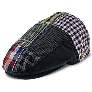 Walrus Hats Ivy Patchwork - Walrus Hats Navy Plaid Patchwork Polyester Kids Ivy Cap (Toddler, Boys, Youth)