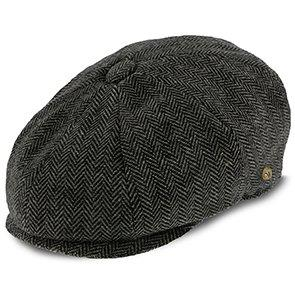 Walrus Hats Newsboy Shelby - Walrus Hats Grey Herringbone Wool Blend 8 Panel Kids Newsboy Cap (Toddler, Boys, Youth)